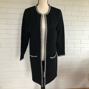 Magaschoni Black duster sweater size small NWT
